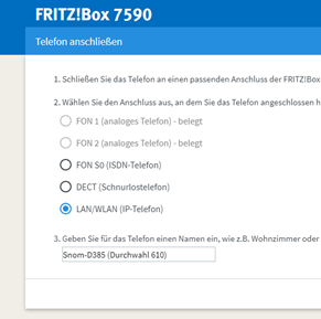 04 Fritz Box - Telefoniegeräte - LAN WLAN (IP-Telefon)