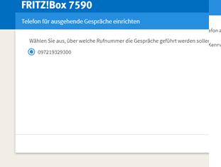 06 Fritz Box - Telefoniegeräte - auf welche Rufnummer soll reagiert werden