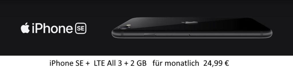 iPhone SE für 24,99 mit 5 GB LTE